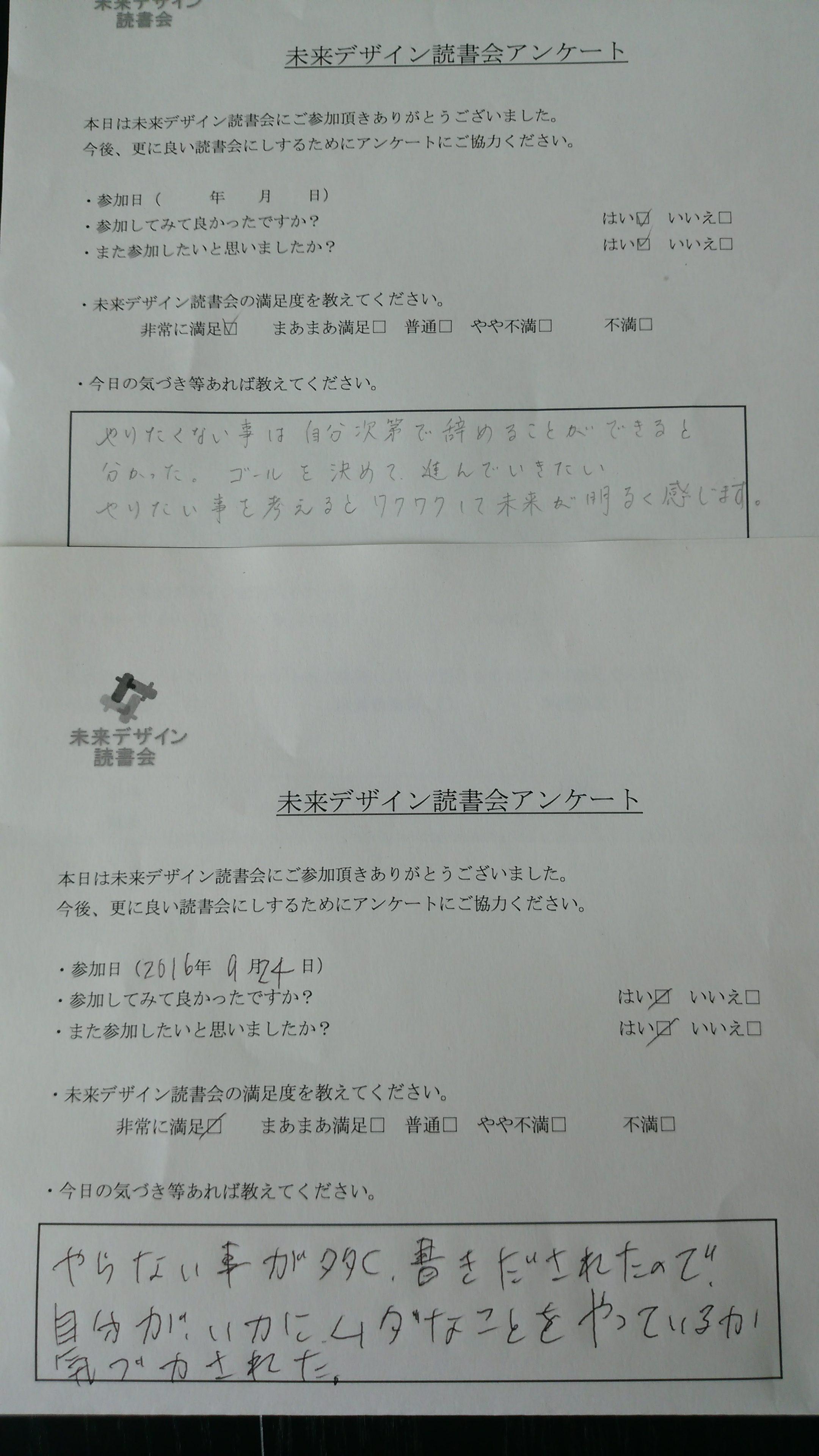 読書会アンケート